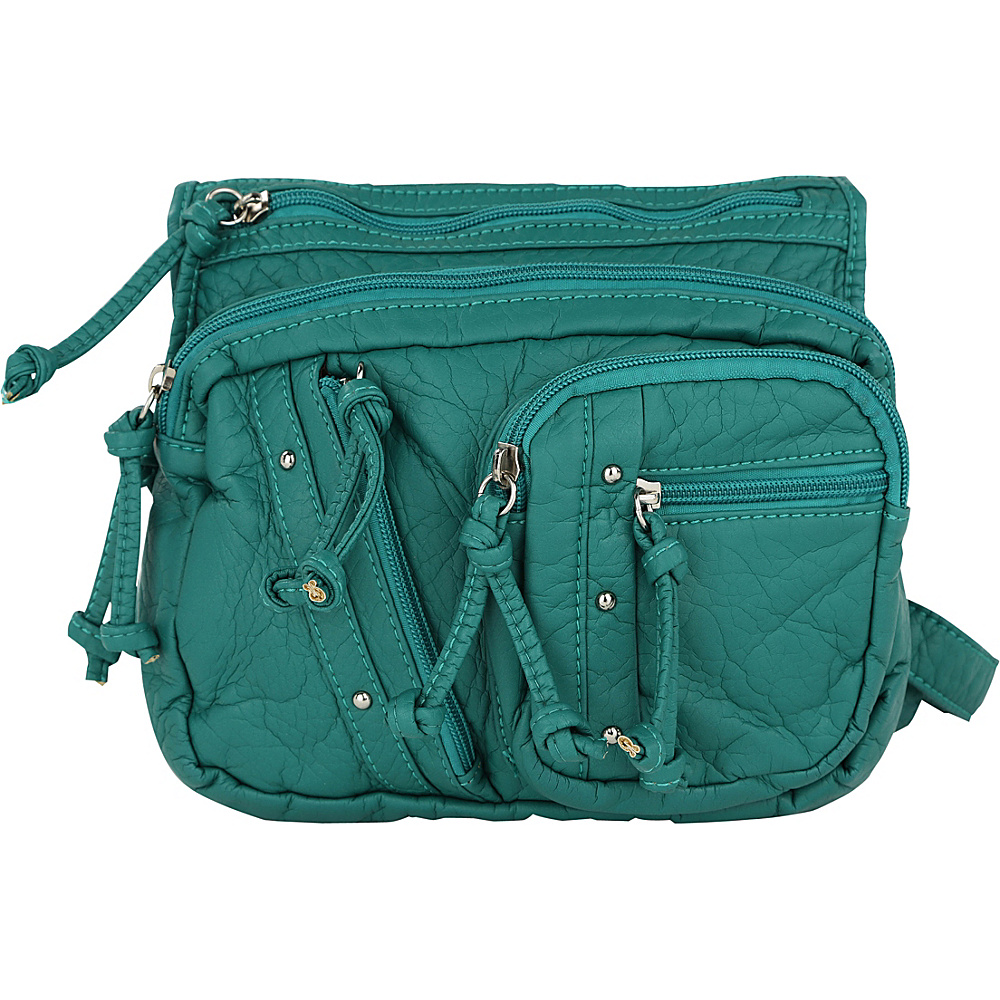 MKF Collection by Mia K. Farrow Travelocity Crossbody Seafoam - MKF Collection by Mia K. Farrow Manmade Handbags - Handbags, Manmade Handbags