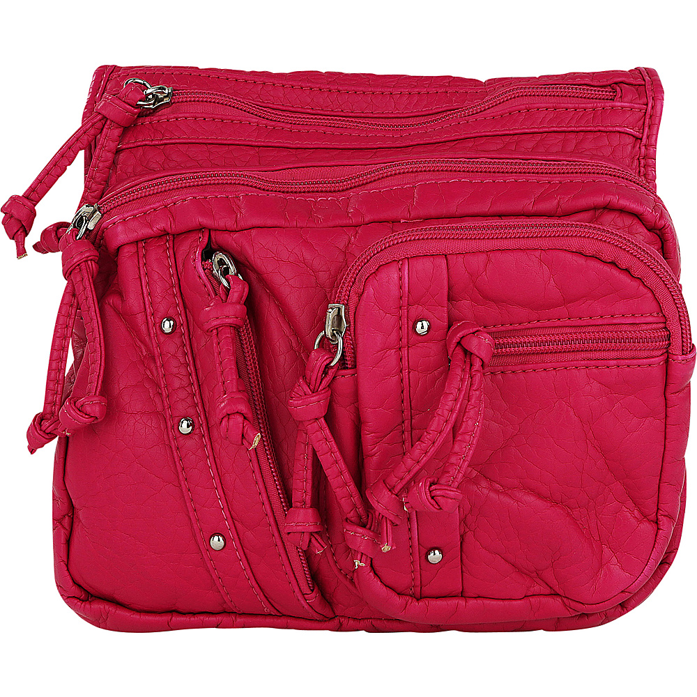 MKF Collection by Mia K. Farrow Travelocity Crossbody Hot Pink (Fushsia) - MKF Collection by Mia K. Farrow Manmade Handbags - Handbags, Manmade Handbags