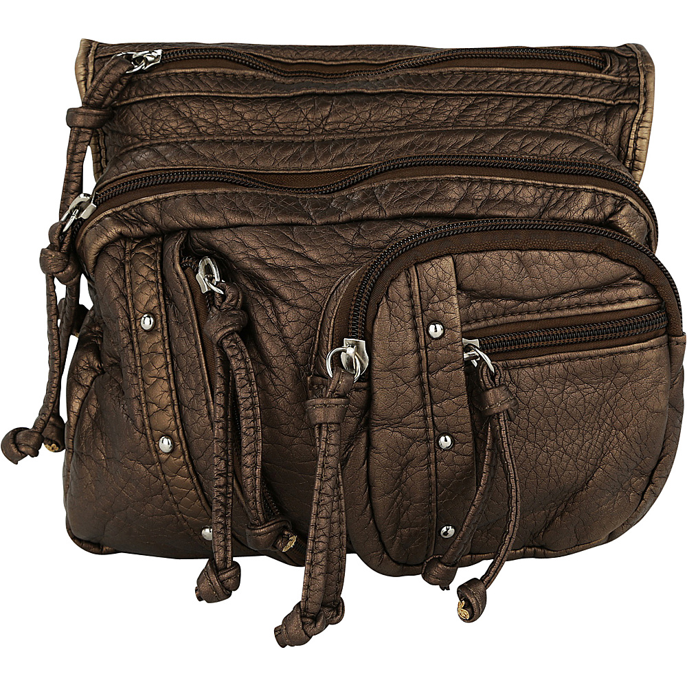 MKF Collection by Mia K. Farrow Travelocity Crossbody Bronze - MKF Collection by Mia K. Farrow Manmade Handbags - Handbags, Manmade Handbags