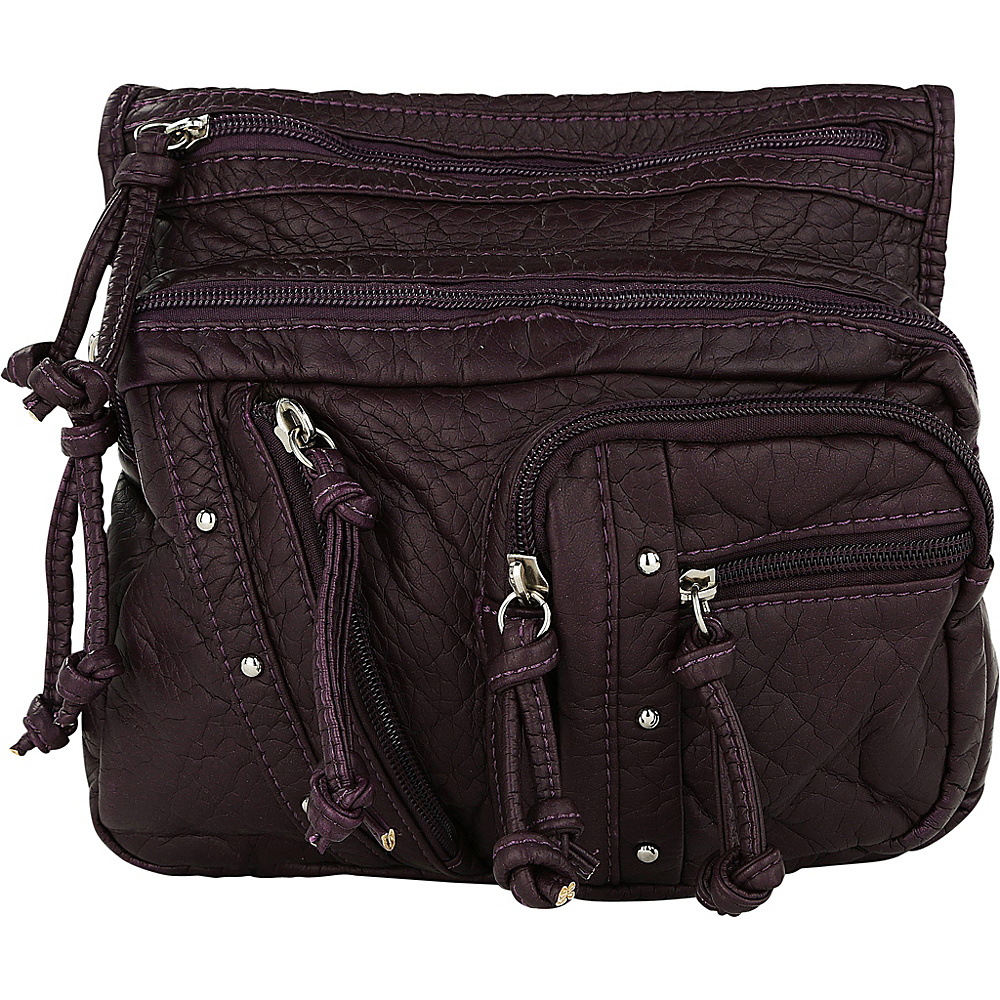 MKF Collection by Mia K. Farrow Travelocity Crossbody Purple - MKF Collection by Mia K. Farrow Manmade Handbags - Handbags, Manmade Handbags
