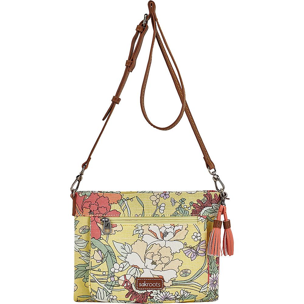 Sakroots Camden Small Crossbody Sunlight Flower Power - Sakroots Fabric Handbags - Handbags, Fabric Handbags