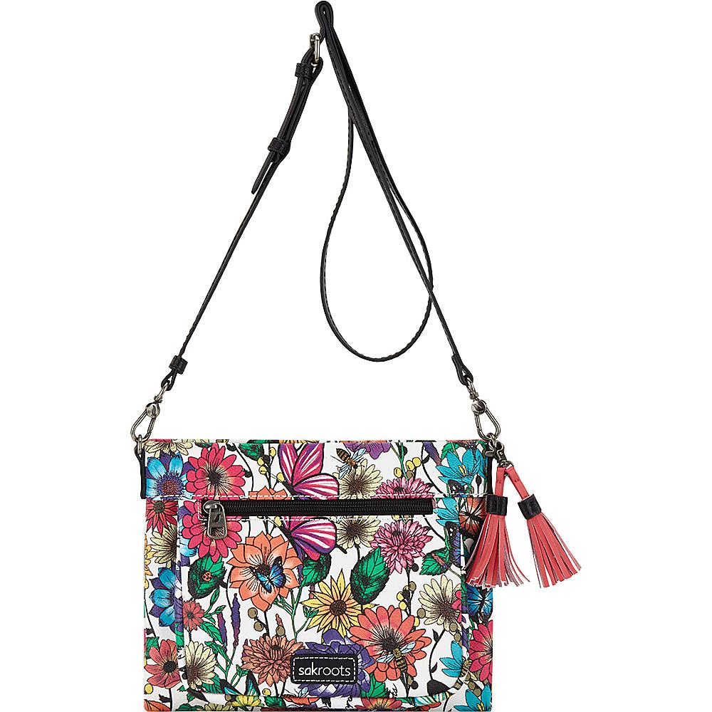 Sakroots Camden Small Crossbody Optic In Bloom - Sakroots Fabric Handbags - Handbags, Fabric Handbags