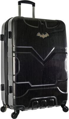 DC Comics Batman 29 inch Hardside Spinner Checked Luggage Black - DC Comics Hardside Checked