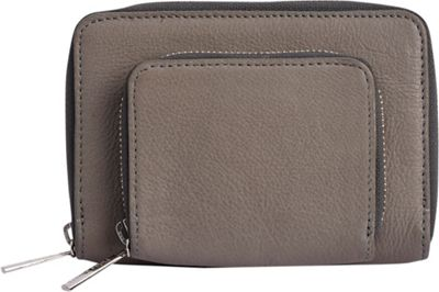 Phive Rivers Small Two Compartment Leather Wallet Grey - Phive Rivers Women's Wallets