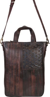 Scully Leather Flag Shoulder Bag Brown - Scully Leather Handbags