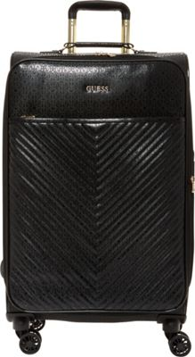 GUESS Travel Halley 20 inch Expandable Spinner Carry-On Luggage Black - GUESS Travel Softside Carry-On
