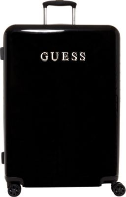 GUESS Travel Mimsy 28 inch Hardside Spinner Checked Luggage Black - GUESS Travel Hardside Checked