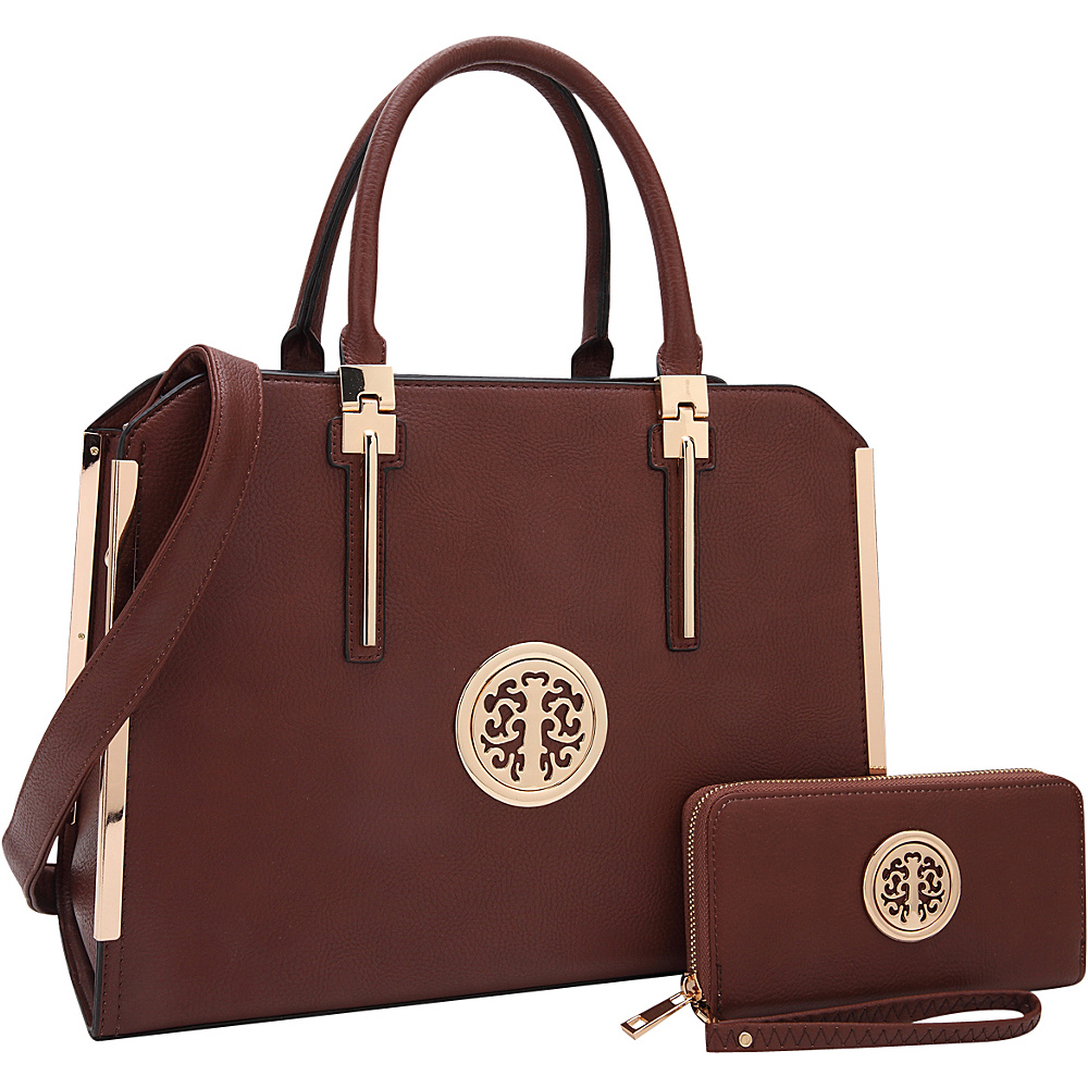 Dasein Simply Classic Briefcase with Matching Wallet Brown - Dasein Non-Wheeled Business Cases - Work Bags & Briefcases, Non-Wheeled Business Cases