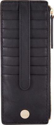 Lodis Downtown RFID Credit Card Case with Zipper Pocket Black - Lodis Women's Wallets