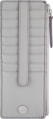 Lodis Downtown RFID Credit Card Case with Zipper Pocket Cement/Lava - Lodis Women's Wallets