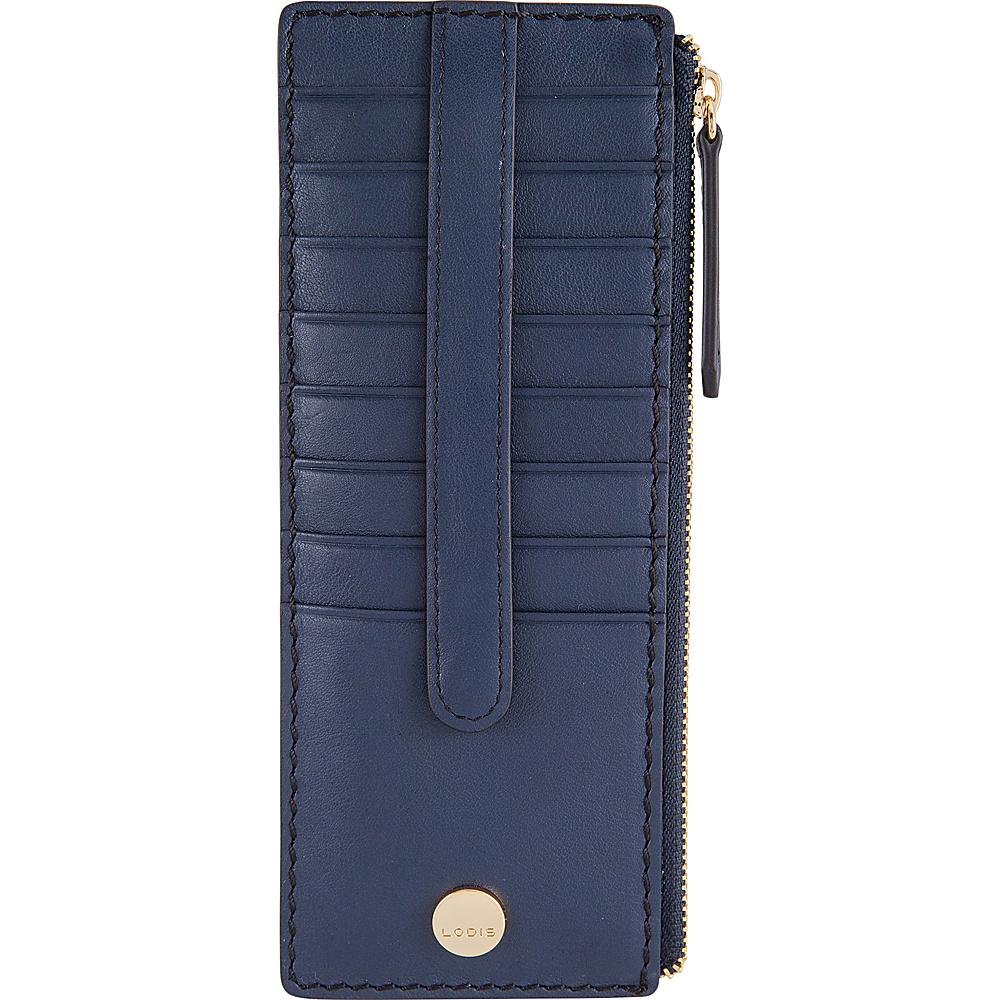 Lodis Downtown RFID Credit Card Case with Zipper Pocket Navy/Black - Lodis Womens Wallets - Women's SLG, Women's Wallets