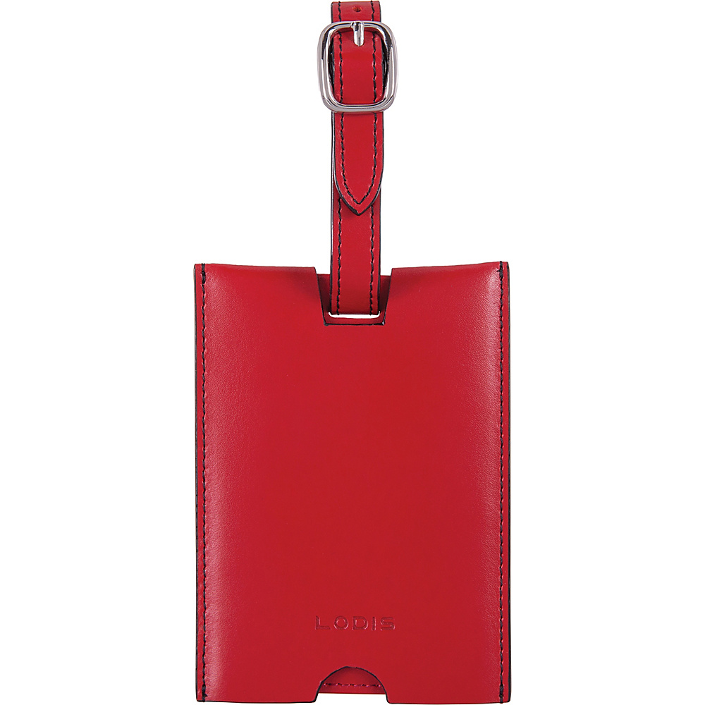 Lodis Audrey RFID Rene Luggage Tag Red - Lodis Luggage Accessories - Travel Accessories, Luggage Accessories