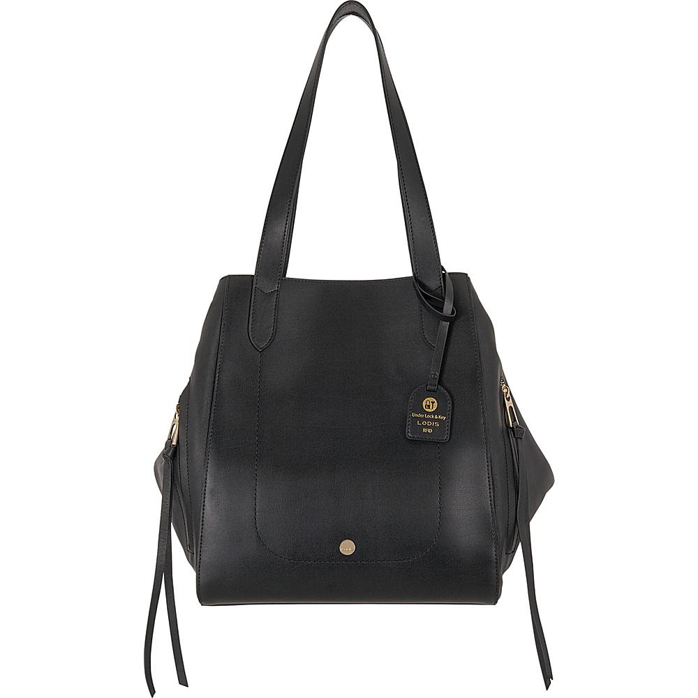 Lodis Downtown RFID Charlize Tote Black - Lodis Leather Handbags - Handbags, Leather Handbags