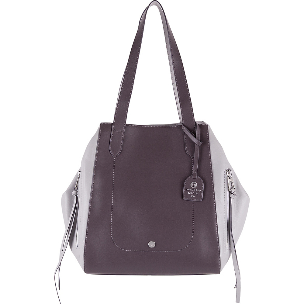 Lodis Downtown RFID Charlize Tote Cement/Lava - Lodis Leather Handbags - Handbags, Leather Handbags