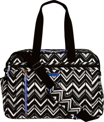 Vera Bradley Lighten Up Weekender Travel Bag Lotus Chevron - Vera Bradley Travel Duffels