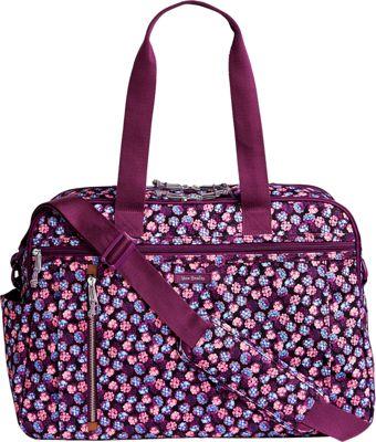 Vera Bradley Lighten Up Weekender Travel Bag Berry Burst - Vera Bradley Travel Duffels