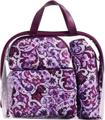 Vera Bradley Iconic 4 Pc. Cosmetic Set Lilac Paisley - Vera Bradley Women's SLG Other