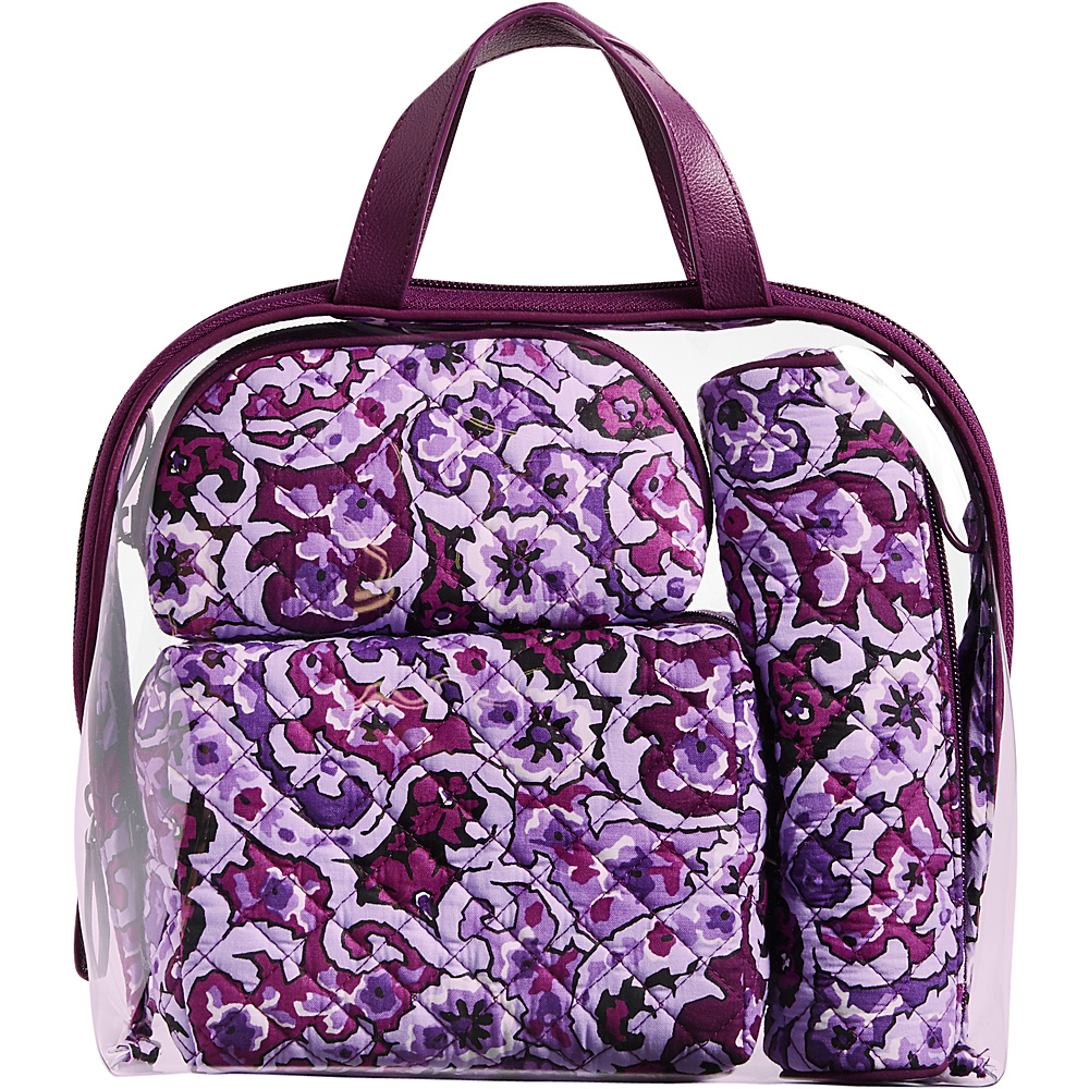 Vera Bradley Iconic 4 Pc. Cosmetic Set Lilac Paisley - Vera Bradley Womens SLG Other - Women's SLG, Women's SLG Other