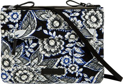 Vera Bradley Iconic Custom Crossbody Snow Lotus - Vera Bradley Fabric Handbags