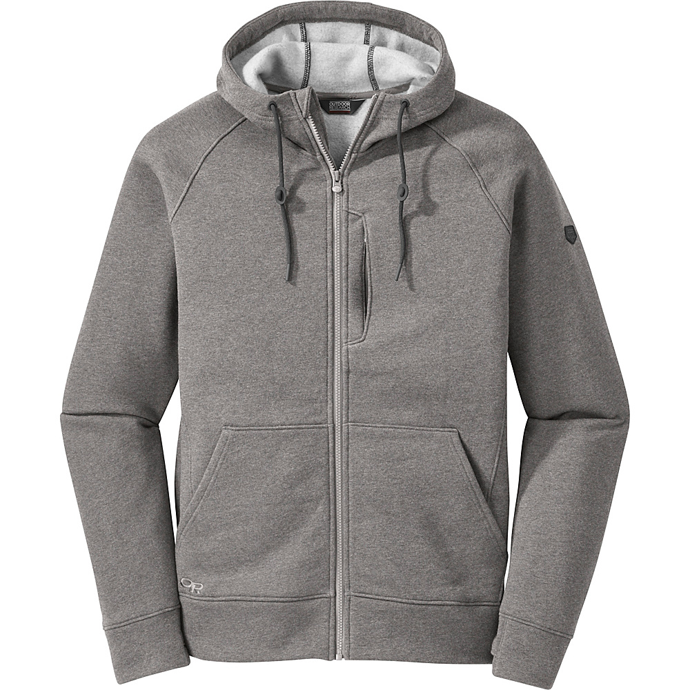 Outdoor Research Mens Revy Hoody M - Pewter - Outdoor Research Mens Apparel - Apparel & Footwear, Men's Apparel