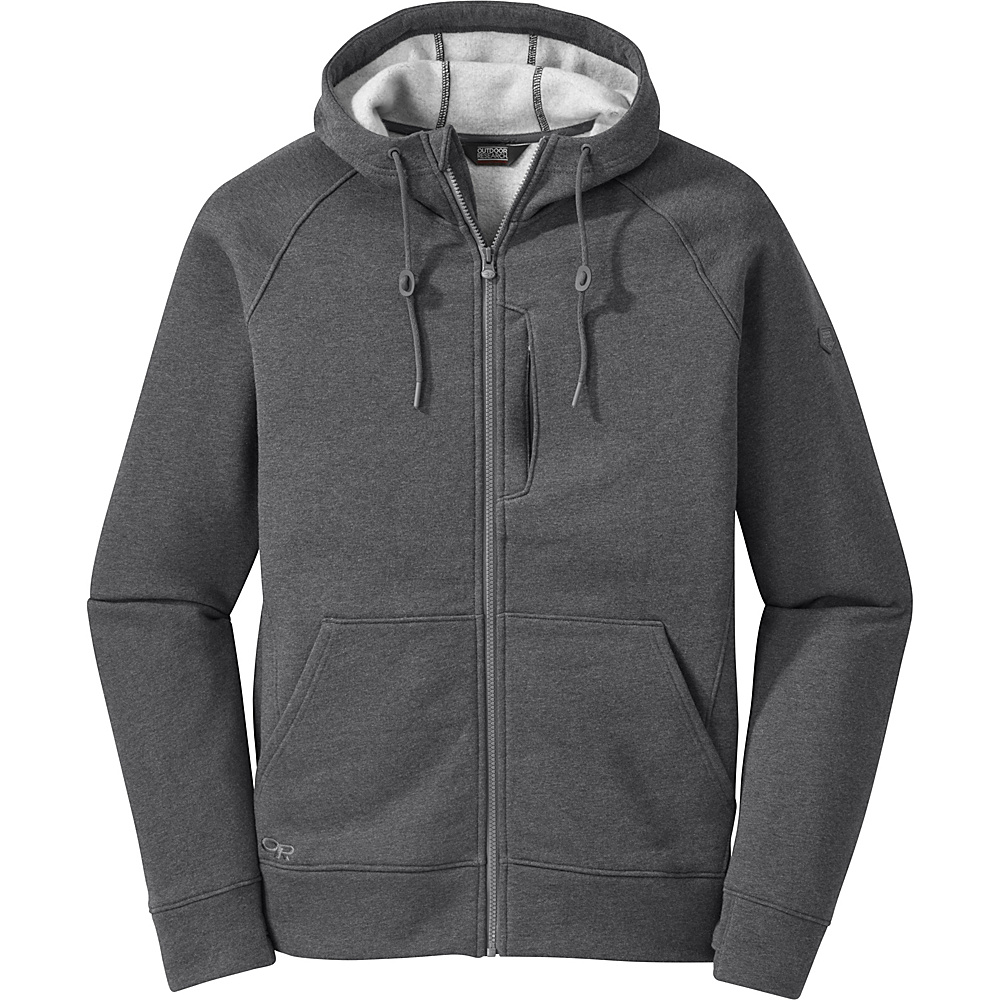 Outdoor Research Mens Revy Hoody M - Charcoal - Outdoor Research Mens Apparel - Apparel & Footwear, Men's Apparel