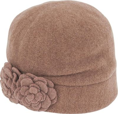 Adora Hats Floral Soft Wool Cloche One Size - Pecan - Adora Hats Hats/Gloves/Scarves