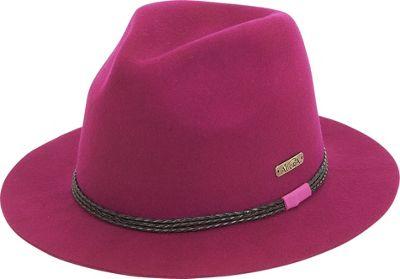 Image of Adora Hats Braided Trim Fedora One Size - Purple - Adora Hats Hats/Gloves/Scarves