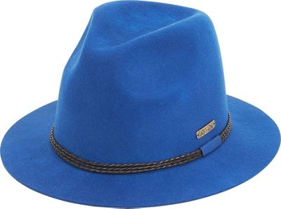 Image of Adora Hats Braided Trim Fedora One Size - Blue - Adora Hats Hats/Gloves/Scarves