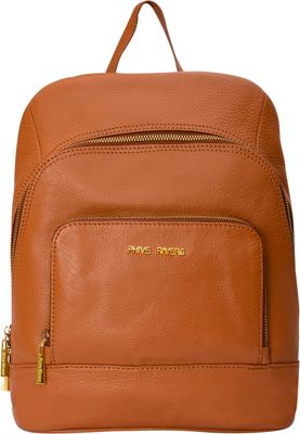 Phive Rivers Multi-Compartment Leather Backpack Tan - Phive Rivers Leather Handbags