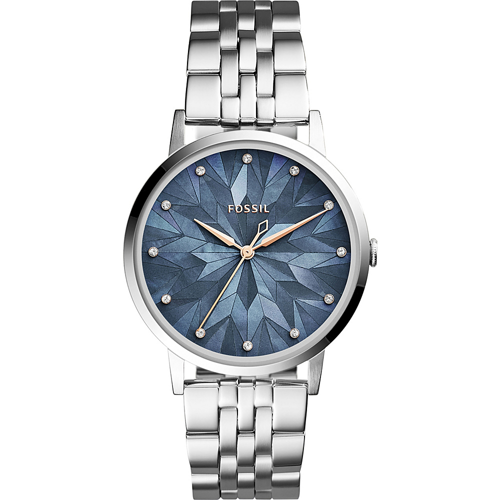 Fossil Vintage Muse Three-Hand Stainless Steel Watch Silver - Fossil Watches - Fashion Accessories, Watches
