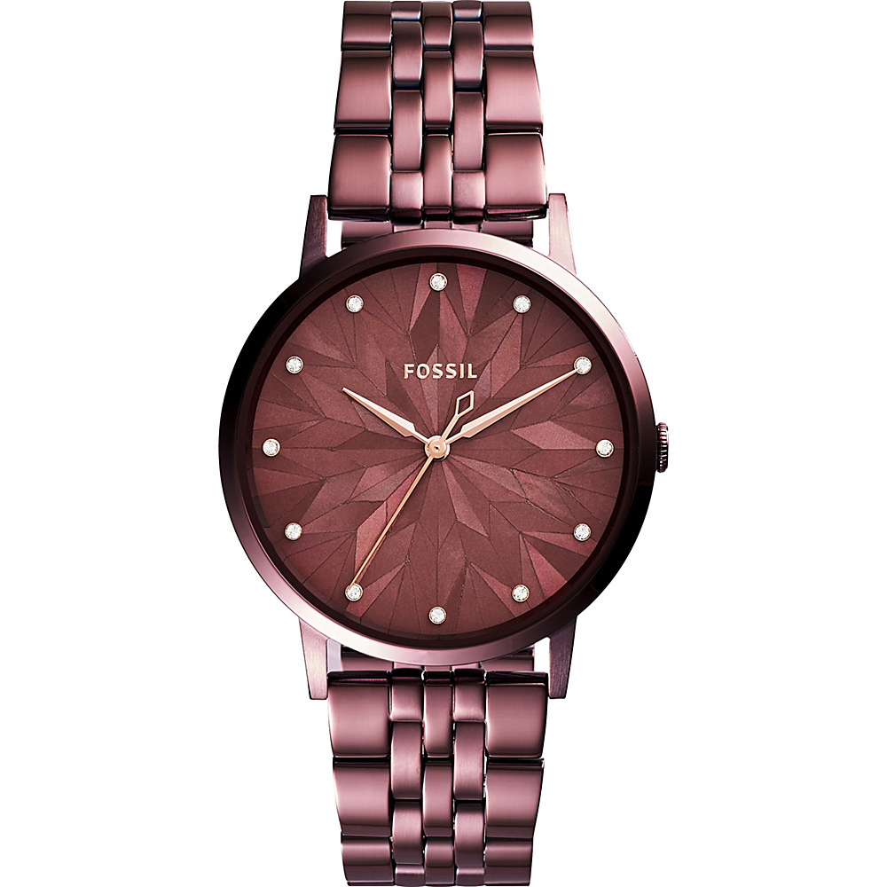 Fossil Vintage Muse Three-Hand Stainless Steel Watch Red - Fossil Watches - Fashion Accessories, Watches