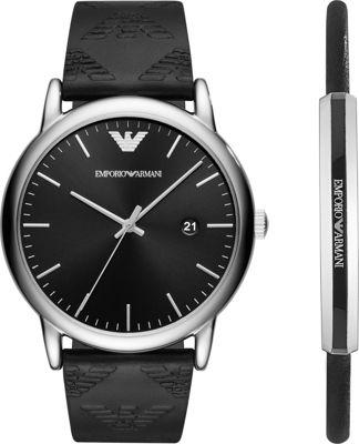Emporio Armani Men's Dress Watch Gift Set Black - Emporio Armani Watches