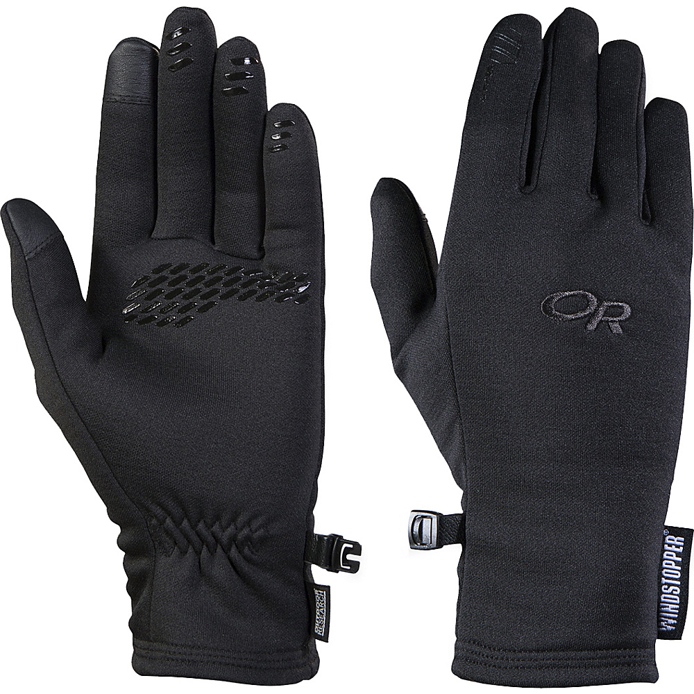 Outdoor Research Womens Backstop Sensor Gloves S - Black - Outdoor Research Hats/Gloves/Scarves - Fashion Accessories, Hats/Gloves/Scarves