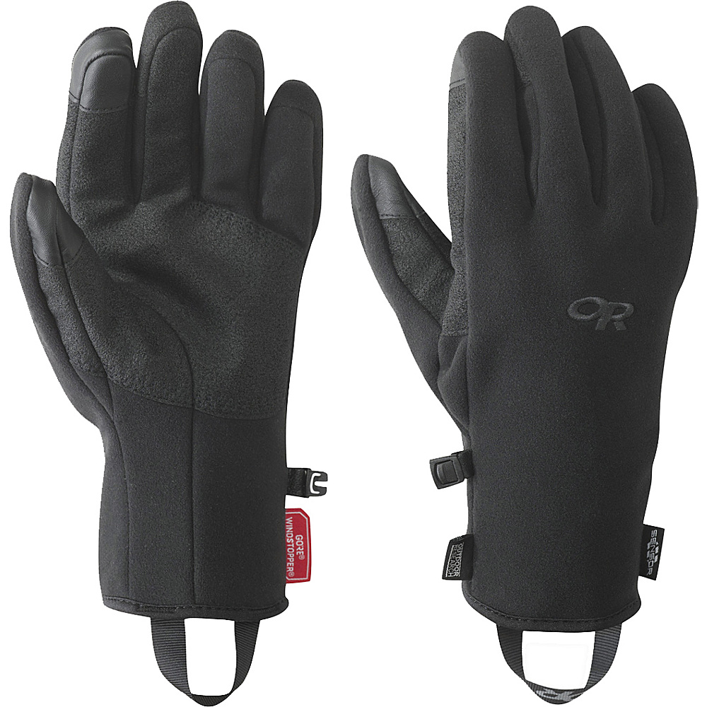 Outdoor Research Mens Gripper Sensor Gloves M - Black - Outdoor Research Hats/Gloves/Scarves - Fashion Accessories, Hats/Gloves/Scarves