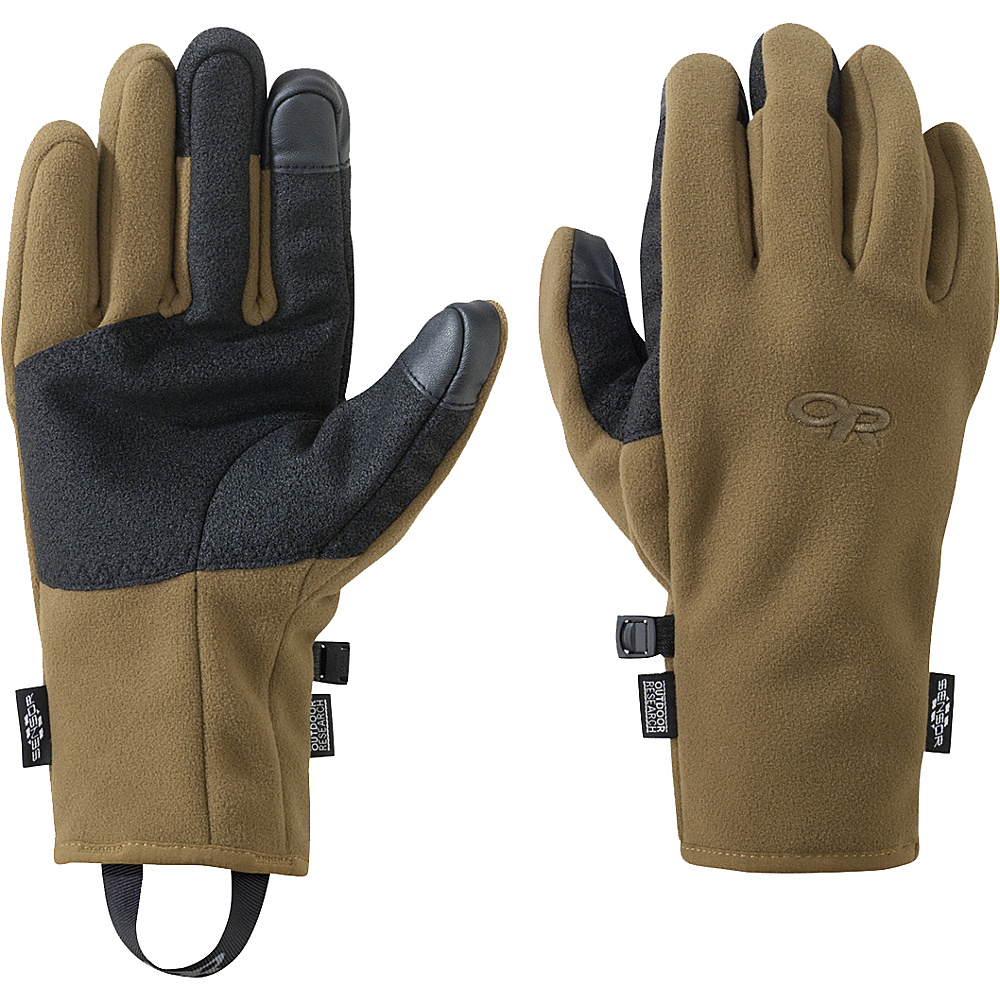 Outdoor Research Mens Gripper Sensor Gloves S - Coyote - Outdoor Research Hats/Gloves/Scarves - Fashion Accessories, Hats/Gloves/Scarves