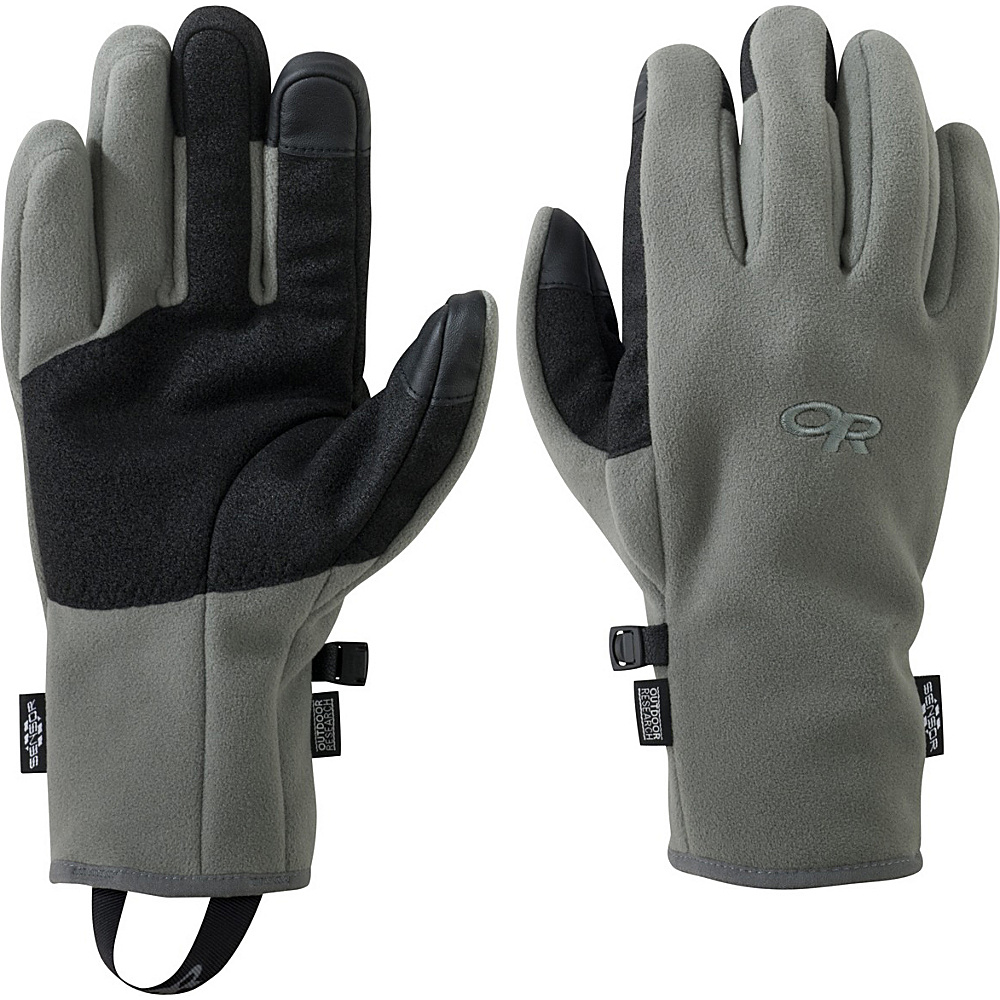 Outdoor Research Mens Gripper Sensor Gloves S - Foliage Green - Outdoor Research Hats/Gloves/Scarves - Fashion Accessories, Hats/Gloves/Scarves