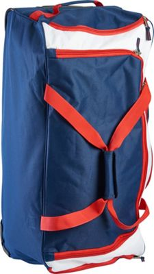 US Polo Deluxe 30 inch Rolling Checked Duffel Navy/Red - US Polo Travel Duffels