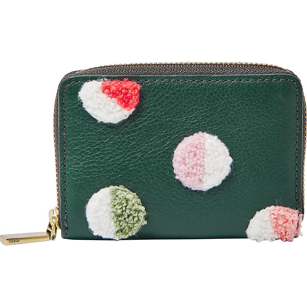 Fossil RFID Mini Zip Card Case Alpine Green - Fossil Womens Wallets - Women's SLG, Women's Wallets