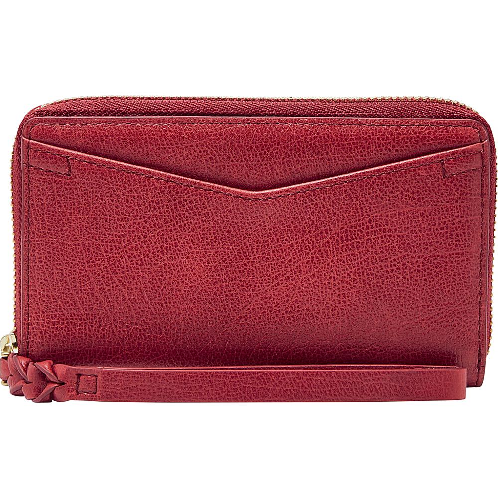 Fossil Caroline RFID Smartphone Zip Around Wallet Red Velvet - Fossil Womens Wallets - Women's SLG, Women's Wallets