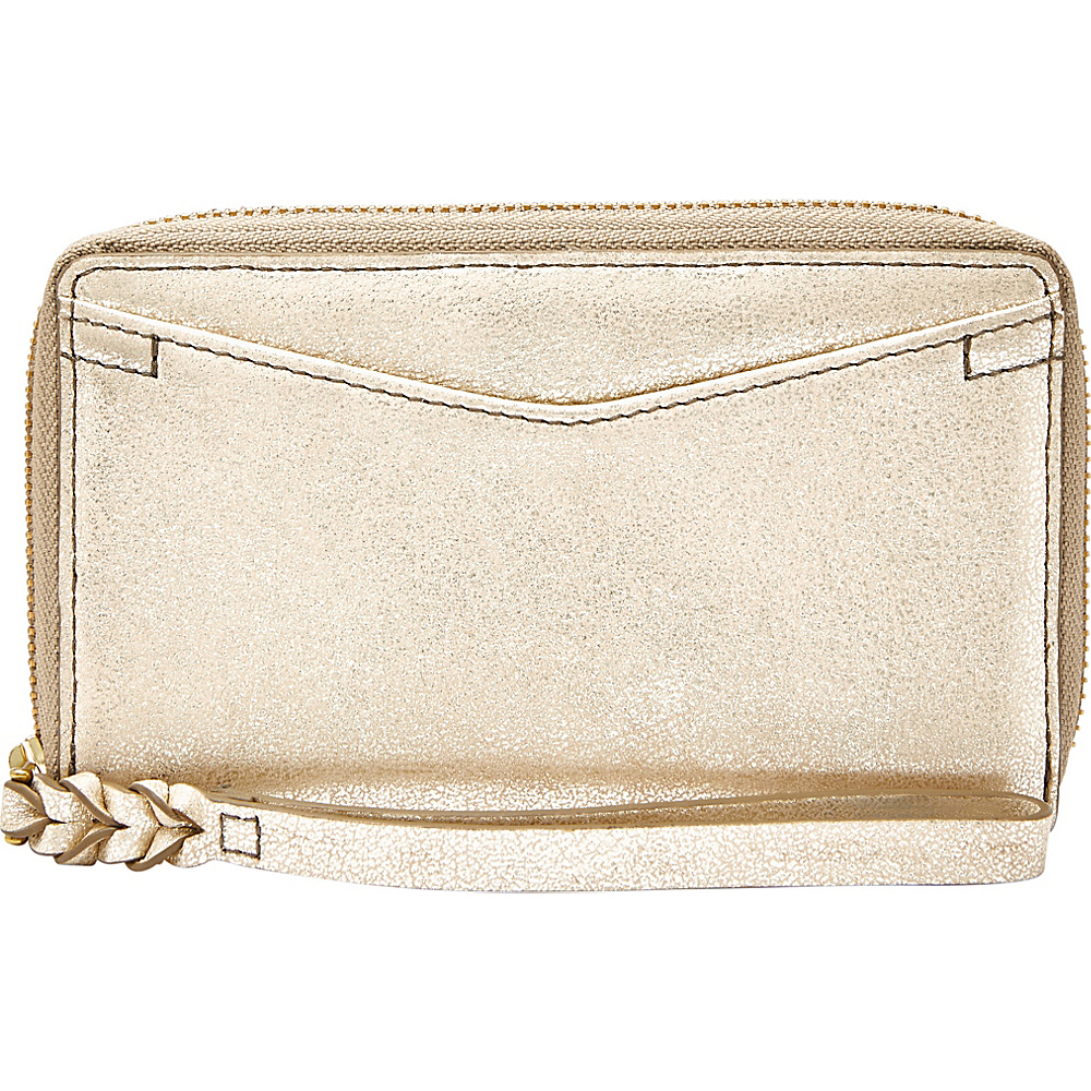 Fossil Caroline RFID Smartphone Zip Around Wallet Gold - Fossil Womens Wallets - Women's SLG, Women's Wallets