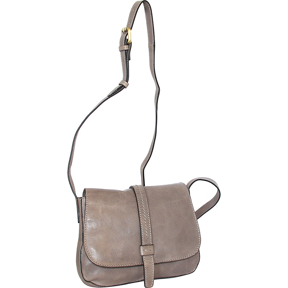 Nino Bossi Bonita Small Crossbody Stone - Nino Bossi Leather Handbags - Handbags, Leather Handbags