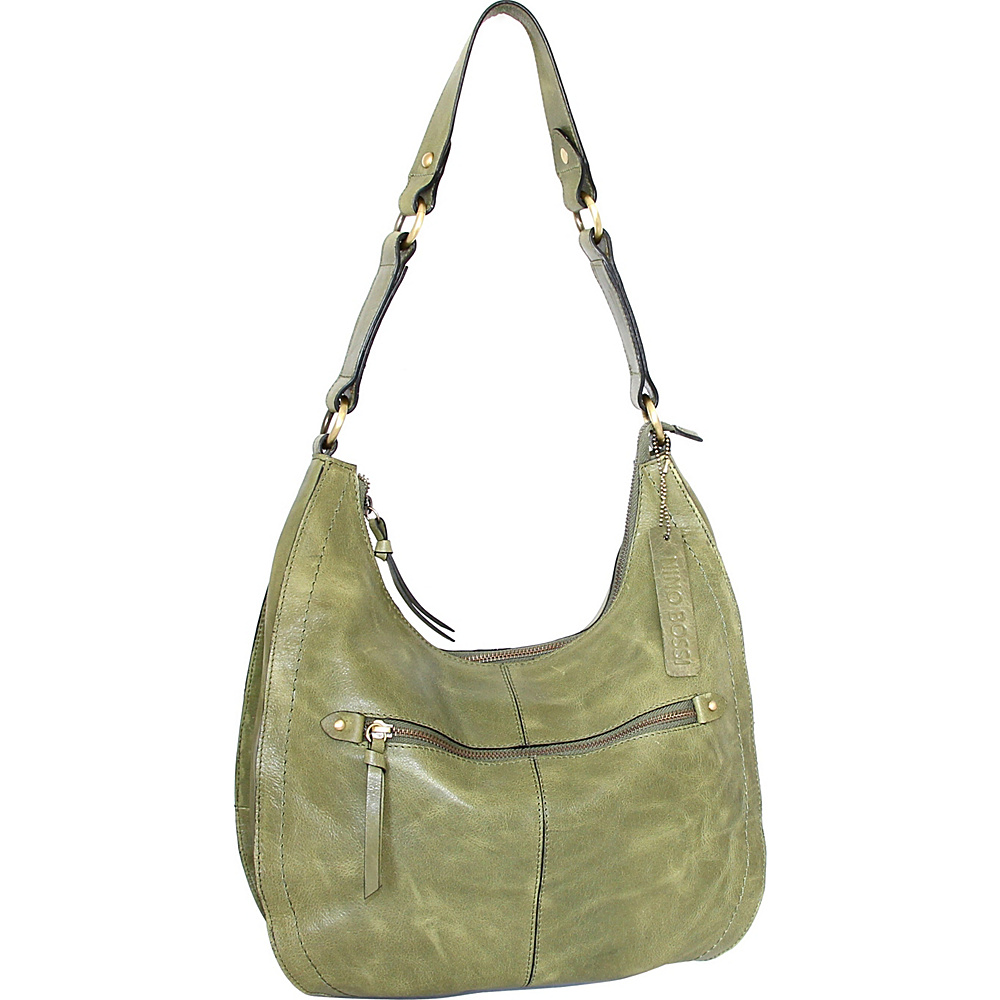 Nino Bossi Delina Hobo Avocado - Nino Bossi Leather Handbags - Handbags, Leather Handbags