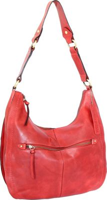 Nino Bossi Delina Hobo Red - Nino Bossi Leather Handbags