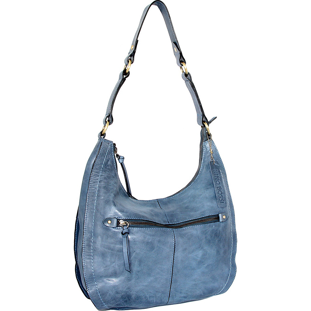Nino Bossi Delina Hobo Denim - Nino Bossi Leather Handbags - Handbags, Leather Handbags