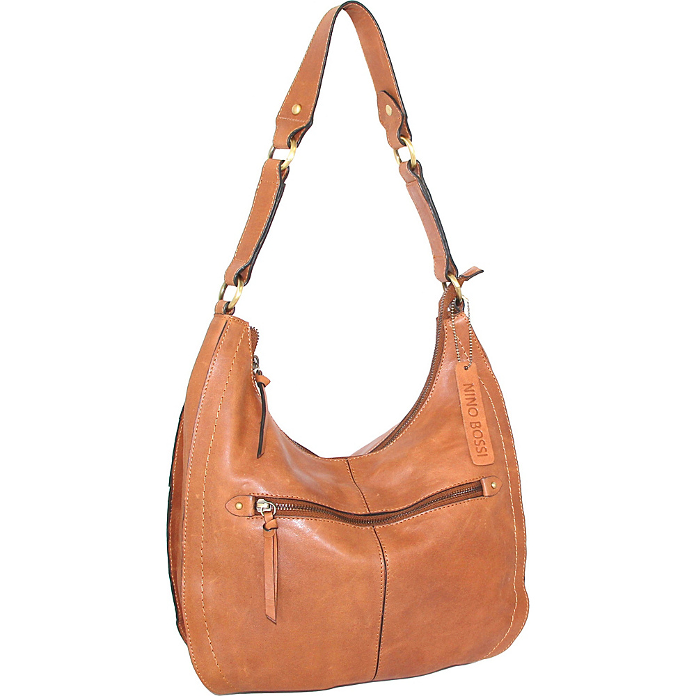 Nino Bossi Delina Hobo Nut - Nino Bossi Leather Handbags - Handbags, Leather Handbags