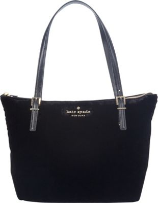 kate spade new york Watson Lane Velvet Small Maya Shoulder Bag Black - kate spade new york Designer Handbags