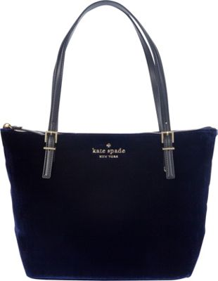 kate spade new york Watson Lane Velvet Small Maya Shoulder Bag Sapphire - kate spade new york Designer Handbags