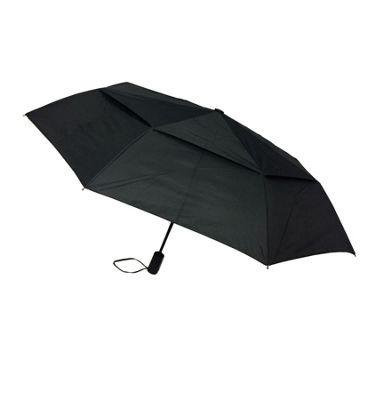 London Fog Umbrellas Vented Mini Auto Open Close Umbrella Black - London Fog Umbrellas Umbrellas and Rain Gear