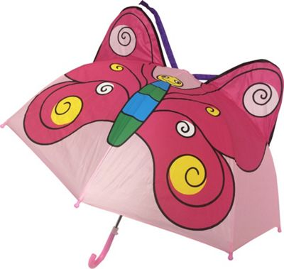 Kingstate Childrens Animal Head Umbrella Butterfly - Kingstate Umbrellas and Rain Gear