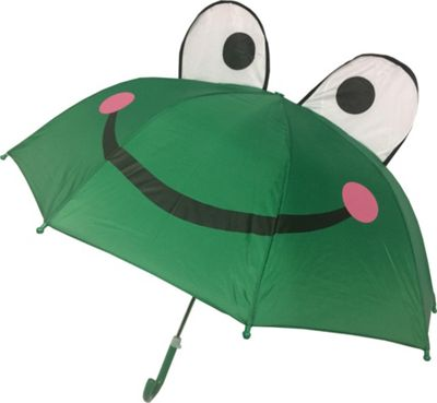 Kingstate Childrens Animal Head Umbrella Frog - Kingstate Umbrellas and Rain Gear